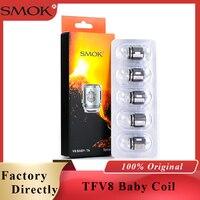 Original Smok TFV8 bébé bobine tête V8 bébé T8 T6 X4 Q2 Q4 M2 noyau pour TFV8 grand bébé réservoir V12 bébé prince réservoir Vape accessoires