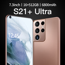 Global Version S21+Ultra 7.3 Inch Smartphone 16G +512G ROM 6800mAh Large Battery Android Full Display Dual SIM 4G/5G Call Phone