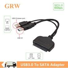 Cavo Sata Usb Grwibeou adattatore Sata da 3 a USB 3.0 cavi per Computer connettori cavo adattatore Sata USB supporto HDD SSD da 2.5 pollici