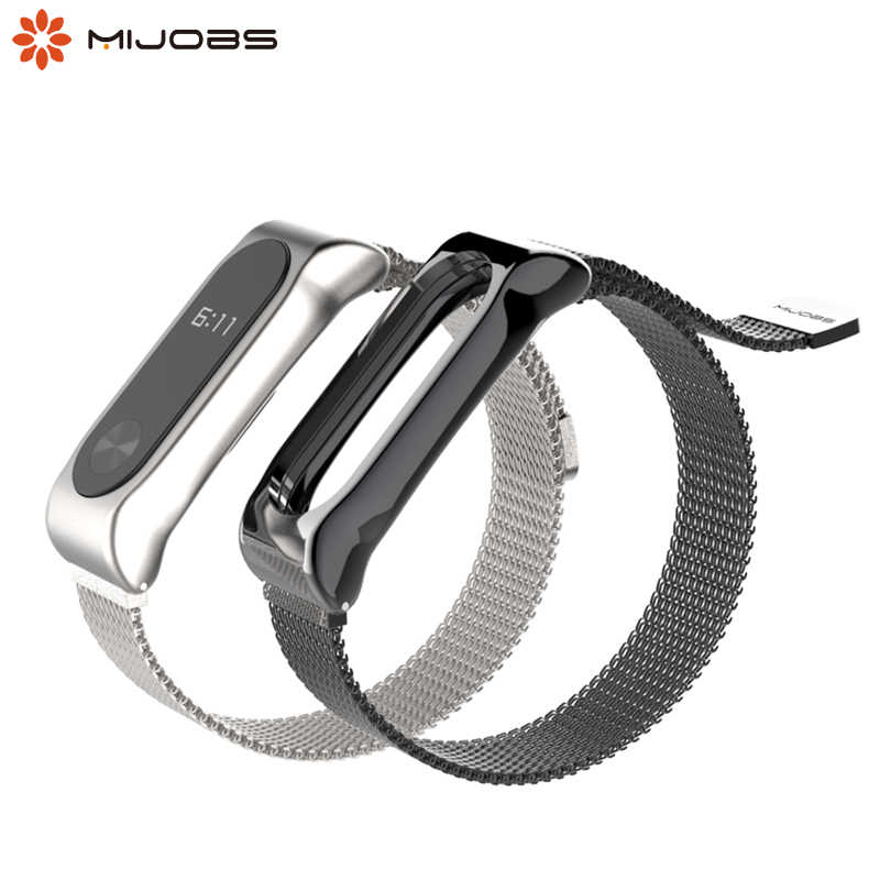 Horloge Band Voor Xiao Mi Mi Band 2 Band Armband Accessoires Pulseira Mi Band Vervanging Rvs Wrist Strap Band 2