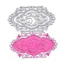 DiyArts 97*175mm Dies Cutting Lace Hollow Oval Crafts Metal Cutting for Scrapbooking Card Album Embossing Die Cut New Template diyarts dies lace frame metal cutting dies new 2019 for scrapbooking card making album embossing die cut new template