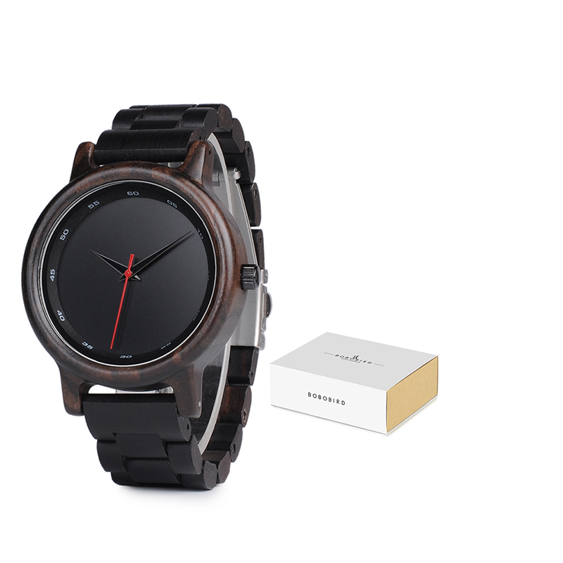 BOBO BIRD Male High Quality Wrist Watch Man Bamboo Wooden Watches Men In Gift Wood Box Erkek Kol Saati Relogio Masculino