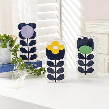 Ceramiczny wazon nordycki kreatywny rzemiosło dekoracja wnętrz dekoracja wnętrz kwiatowa domowa wyposażenie miękka dekoracja tanie i dobre opinie ANDAZIYAN CN (pochodzenie) Nowoczesne Ceramiki i porcelany Blat wazon