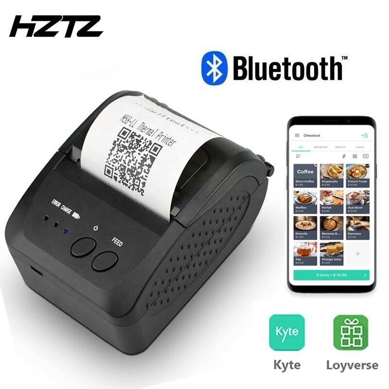 Mini 58mm Bluetooth Printer Portable Thermal Receipt Ticket Printer For Mobile Phone Android IOS Windows Pocket Bill Machine