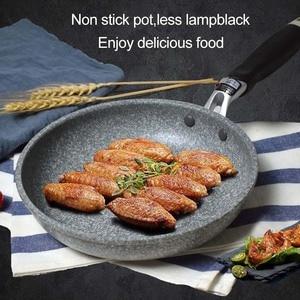 Image 5 - ICESTCHEF Japanischen Stil Reis Stein Pan Non stick Bratpfanne Mit Anti Verbrühungen Griff Pfanne Herd Küche werkzeuge