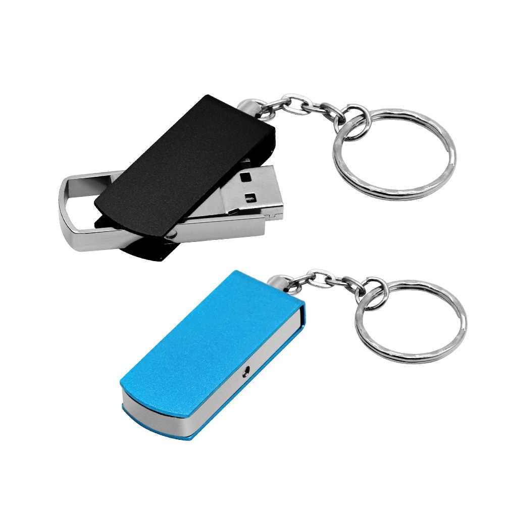 ความเร็วสูงโลหะ Usb Flash Drive 2.0 สีสัน Pendrives Mini Cle Usb ไดรฟ์ปากกาแฟลชไดรฟ์ 32gb Memoria Stick 4gb 8gb 16gb โลโก้