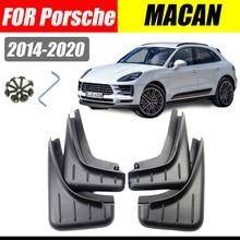 Mud flaps For Porsche Macan Mudguards Fenders Mud flap splash Guard Fender Car Accessories auto styline Front Rear 4 PCS
