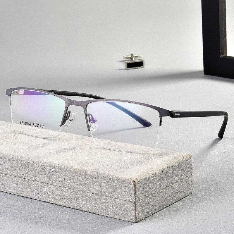 Купить мужские очки в оправе из сплава деловом стиле полуободковые