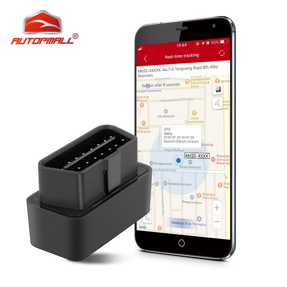OBD Car GPS Tracker Plug out Alarm Mini GPS Tracker Plug & Play OBD Vehicle Car Tracker Geo fence Alarm GPS Locator Free Web APP|GPS Trackers| |  - title=