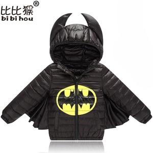 Baby Boys Girls Jacket Autumn Winter Warm Down Coat Jacket Hoodies Outerwear Christmas Children Kids Clothes Halloween Clothing(China)