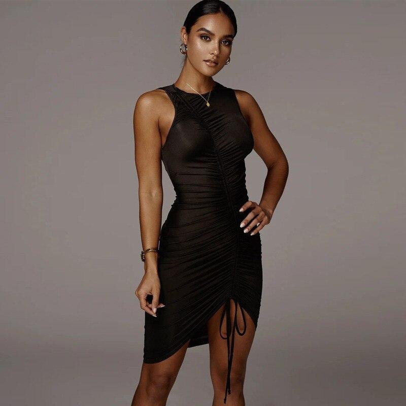 sleeveless mini short dress17