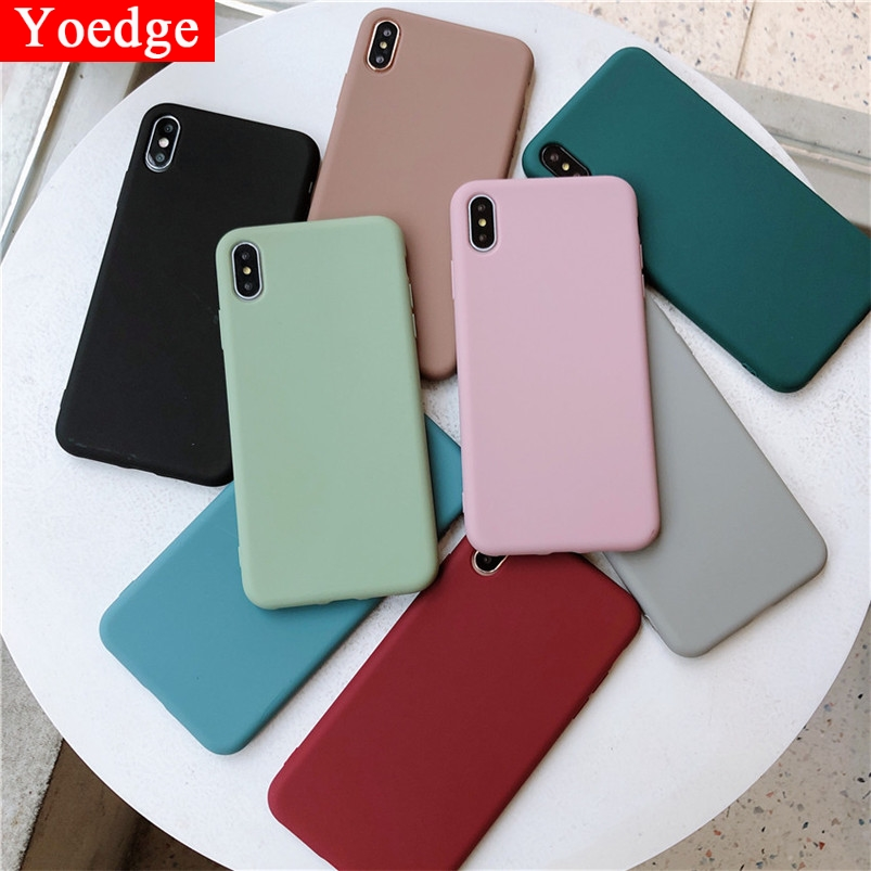 Candy Color Silicone Cover For <font><b>Samsung</b></font> <font><b>Galaxy</b></font> A50 A40 A60 A70 A10 A20 A20E <font><b>A30</b></font> M10 M20 M30 S8 S9 S10 Plus S10E Soft Simple <font><b>Case</b></font> image