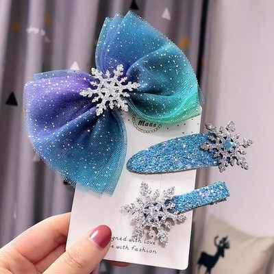 Disney girl hair clip doll Hair accessories  children hair pin Frozen Elsa doll accessories gift
