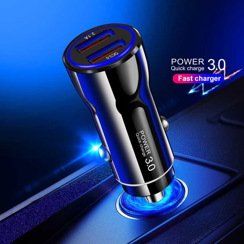 Cargador de coche USB Suhach carga rápida 3,0 cargador de teléfono de coche para Xiaomi mi iPhone Samsung QC3.0 QC coche móvil rápido de carga