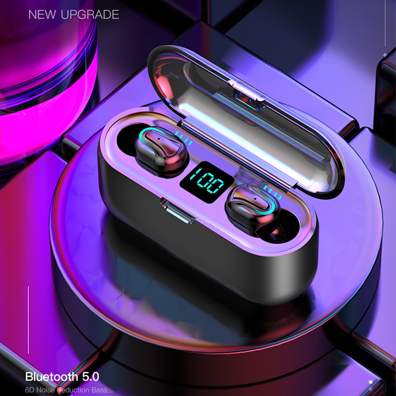 HATOSTEPED Capsule TWS Wireless Earbuds V5.0 Bluetooth Earphone Headphones Deep Bass Stereo Sound Sport Earphone For Mi Iphone