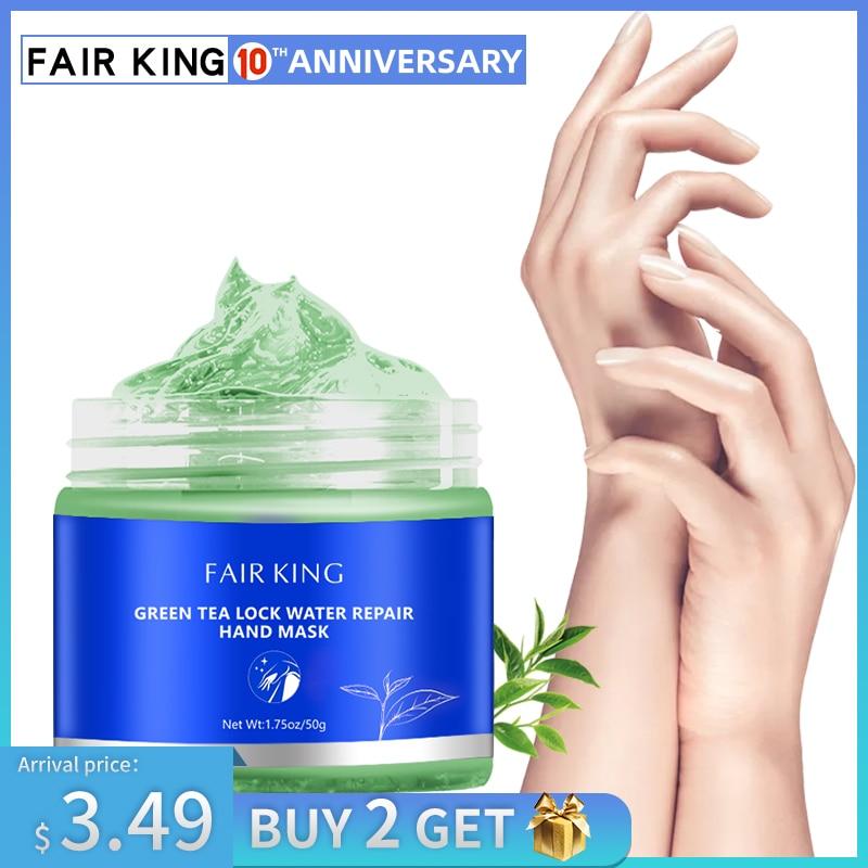 Green Tea Moisturizing Hand Wax Whitening Skin Hand Mask Repair Exfoliating Calluses Film Anti-Aging Hand Skin Treatment Cream