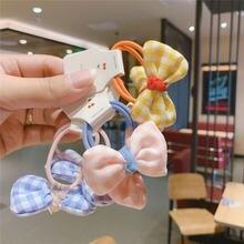 Новинка в Южной Корее Детская резинка для волос с бантиком маленькая