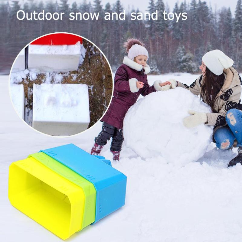 Funny Outdoor Winter Castle Foundation Plastic Snow Block Snow Sand Mold Brick Maker Mould Kids Children Playing Products