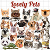 28Pcs Cute Husky Corgi Pet Dog Cat Animal Stickers Waterproof  Vinyl Fridge Luggage Laptop Cover Sticker for Macbook Pro Ari flash sale