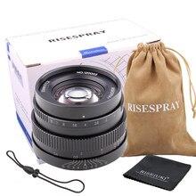 Risespray 35mm f1.2 lente prime para sony e-montagem para m4/3 para fuji xf APS-C câmera manual mirrorless lente de foco fixo a6500 j