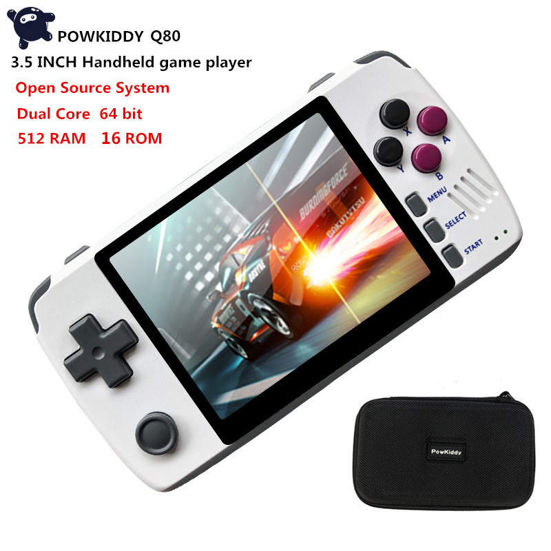 Powkiddy Q80 handheld video Game Console Dual core 16G ROM Open source system 3.5