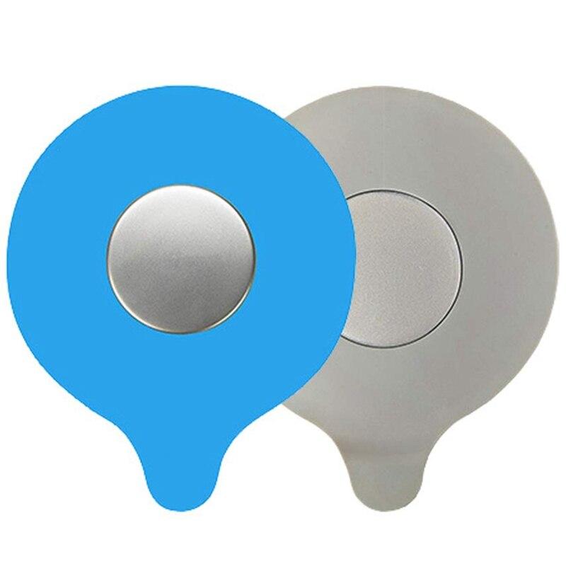 2 Pcs Bathtub Drain Tub Stopper,Silicone Tub Drain Stopper Cover Bathtub Plug Universal Use For Bathroom,Laundry,Kitchen(Blue,Gr