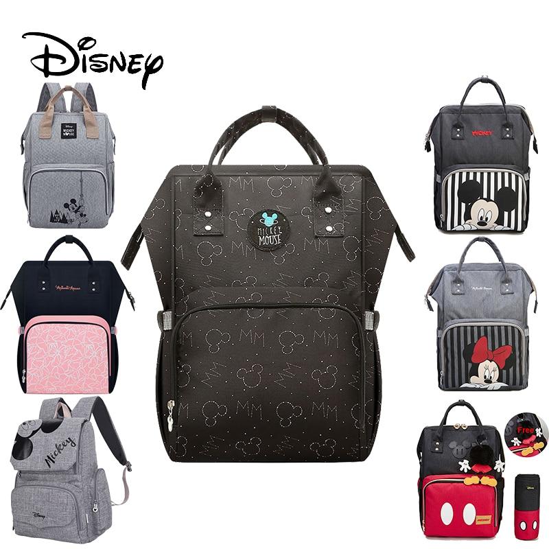 Disney couche sac à dos bébé sacs pour maman sac humide mode momie maternité couche organisateur Nappy poussette bébé changeant voyage