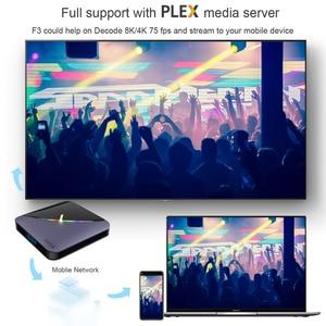 Image 5 - A95X F3 Android 9.0 Transpeed 8K procesor Amlogic S905X3 TV, pudełko 4K Youtube wifi 4GB 16GB 32GB 64GB światło RGB TV, pudełko