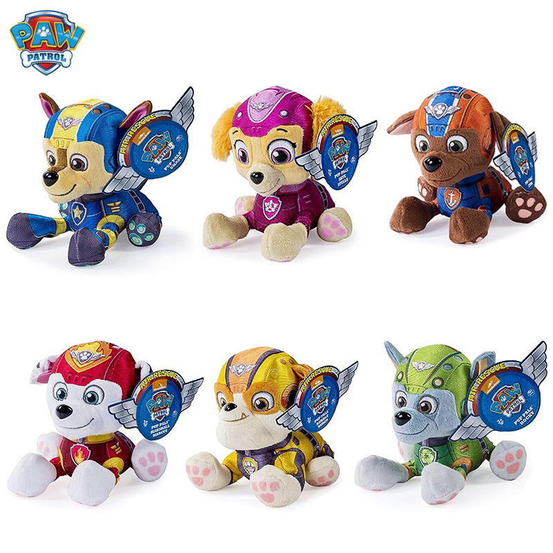 12-27 Cm Paw Patrol Dog Tracker Plush Doll Anime Kids Toys Action Figure Plush Doll Model Stuffed Plush Animals Toy Gift