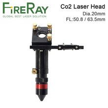 FireRay Co2 Laser Laser Head for Lens D20mm FL50.8 & 63.5mm Mirror 25mm for Laser Engraving Cutting Machine