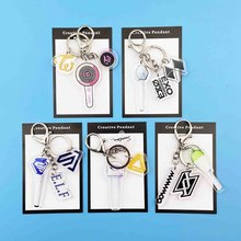 EXO TWICE MAMAMOO SJ SEVENTEEN Keychain Cartoon Album Acrylic Keyring Fans Gifts(China)