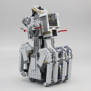Image 5 - 05126 primer orden Heavy Scout Walker Star Wars en miniatura Kit de bloques de construcción ladrillos compatibles legoed 75177 regalos de navidad DIY