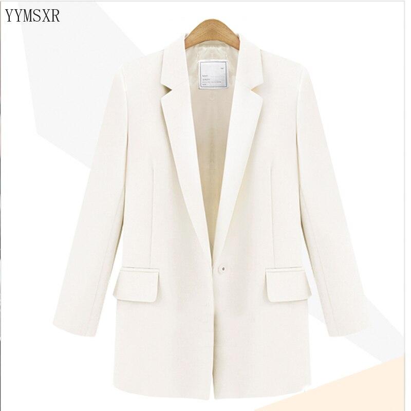 2020 Korean spring and autumn new women's jacket Casual temperament black ladies blazer Elegant slim suit feminine Coat