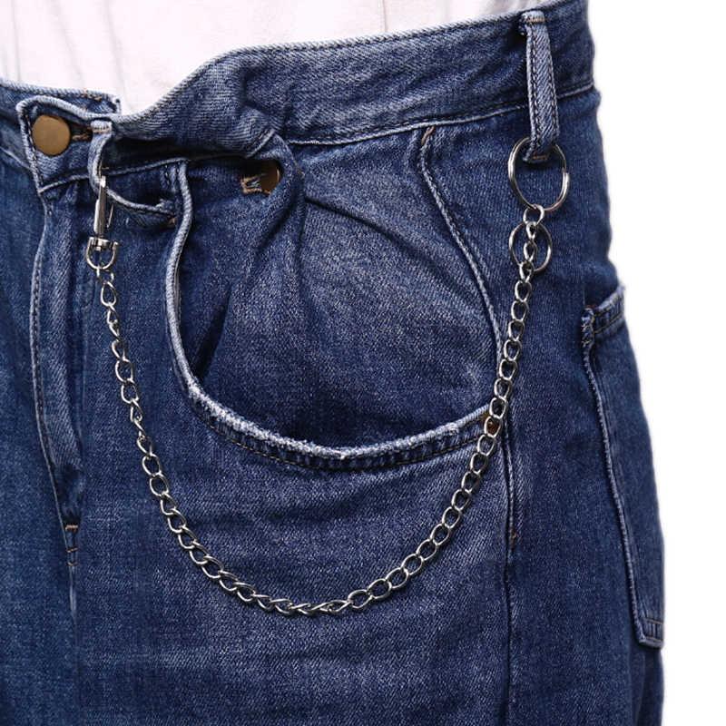 42 ซม.บุคลิกภาพเอว Chain Punk Hip Hop Rock กางเกงห่วงโซ่โลหะพวงกุญแจแหวนผู้ชายผู้ชายผู้หญิงกระเป๋า Trinket จี้