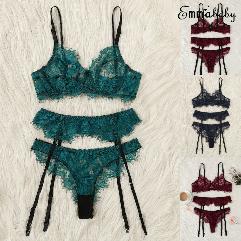 Womens Sexy Lingerie Set Lace Sleepwear G String Thong Garter Belt Underwear in Lingerie Sets from Novelty Special Use