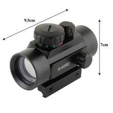 1X40RD Tactical Hunting Optical Front Red Dot Sight 11/20mm Mounts Riflescope Aim Point Rifle Scope Telescope Laser Pointer