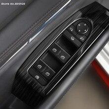 цена на Car Door Window Glass Panel Armrest Lift Switch Button Trim Frame For Mazda 3 Axela 2019 2020 Car Accessories