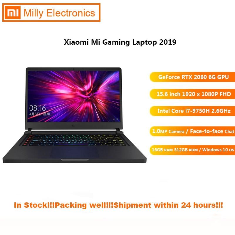 2019 Xiaomi Mi Gaming Laptop Windows 10 Intel Core I7 - 9750H 16GB RAM 512GB SSD HDMI Notebook Type -C Bluetooth