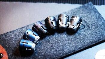 Dark Matter Jet Fingertip Gyro Knife Pendant Titanium Alloy Stainless Steel Portable Play Adult Decompression EDC Knife Beads
