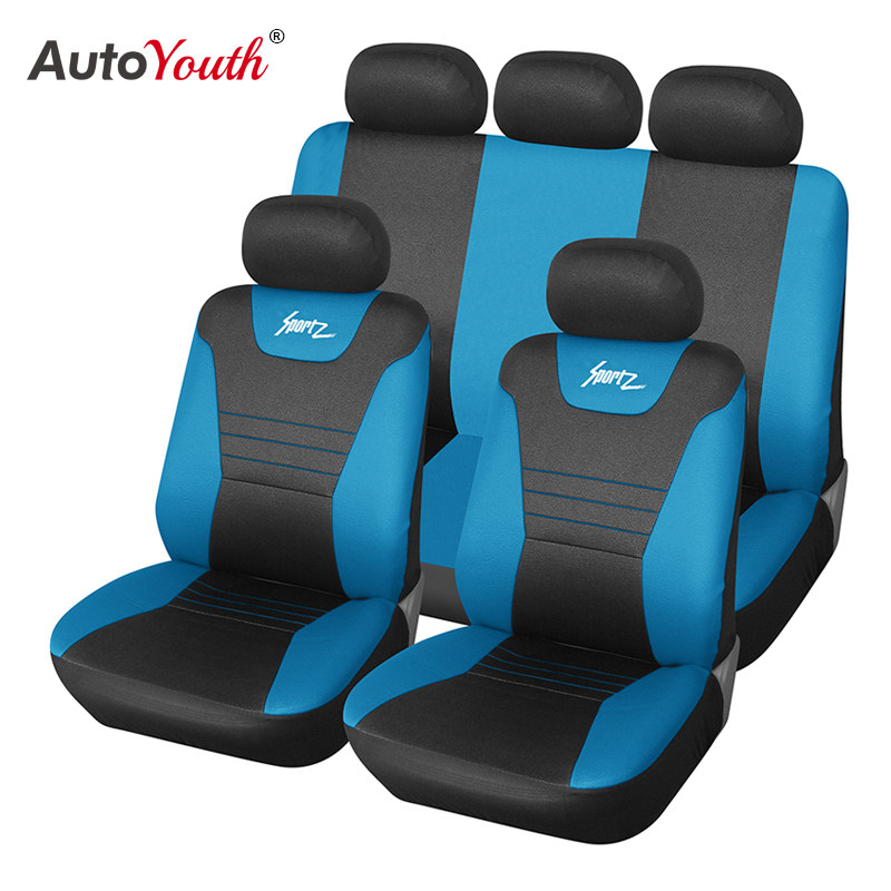 Mega Deal Fc51 Autoyouth Full Set Universal Car Seat Covers Car Styling Car Seat Protector Blue Classic Car Seat Covers For Universal Car Cicig Co