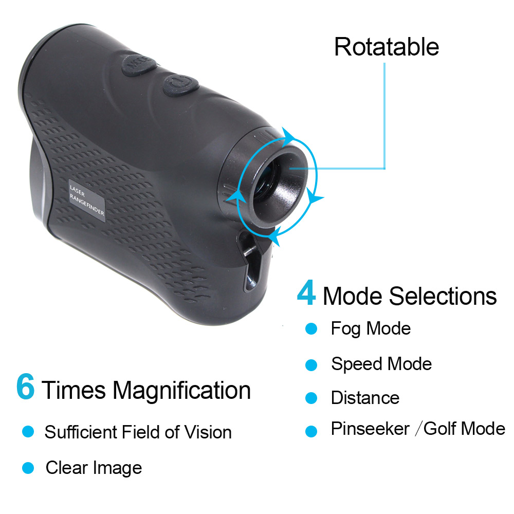 Telescope Laser Rangefinder 6X 600M 900M 1200M Monocular Hunting Golf Laser Range Finder Distance Meter