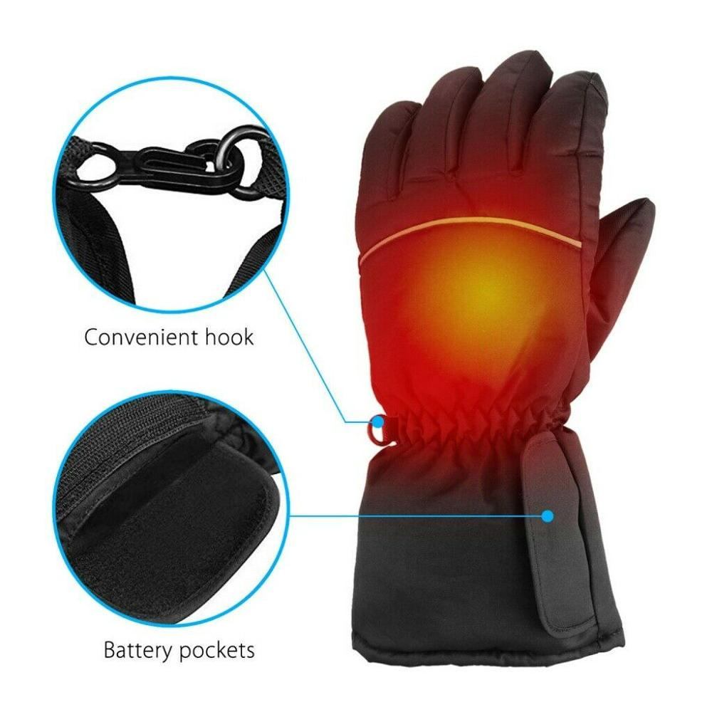 2019 Heated Gloves Touchscreen Warm Glove Hand Warmers Motorbike Unisex Heated Gloves  For Winter Outdoor Camping Hiking Hunting