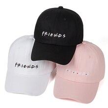 women men fashion spring summer dad hat friends embroidery baseball cap