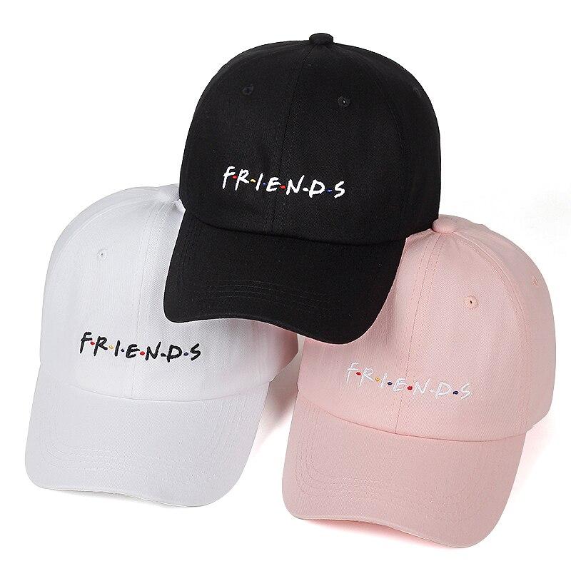 Friends TV Series Cap Embroidered Baseball Cap Adjustable Cotton Hat Letters Cap