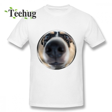 цена на Pug Cute Dog Husky T shirt Graphic Dog In Bubble Tees For Men Novelty Top Design For Boy Quality Cotton Camiseta