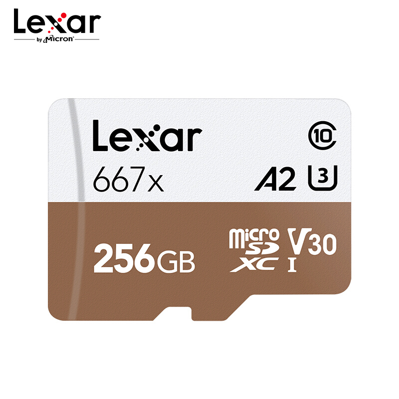 Lexar Professional 667x Memory Card 64GB A2 High Speed 100MB s V30 Class10 UHS-I U3 Mirco SD Card 128GB 256GB For  4K Video