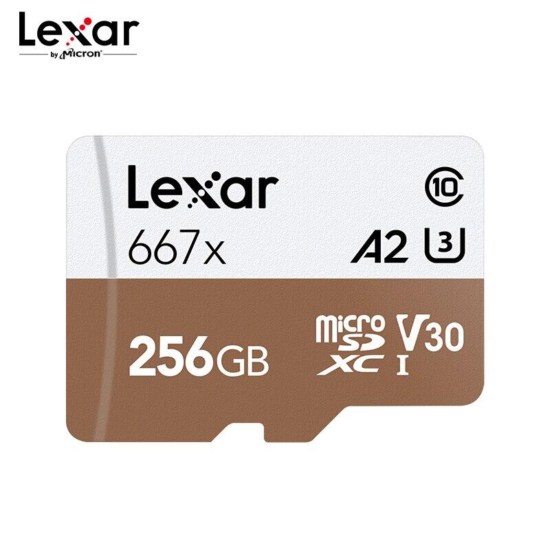 Lexar Professional 667x Memory Card 64GB A2 High Speed 100MB/s V30 Class10 UHS-I U3 Mirco SD Card 128GB 256GB For  4K Video
