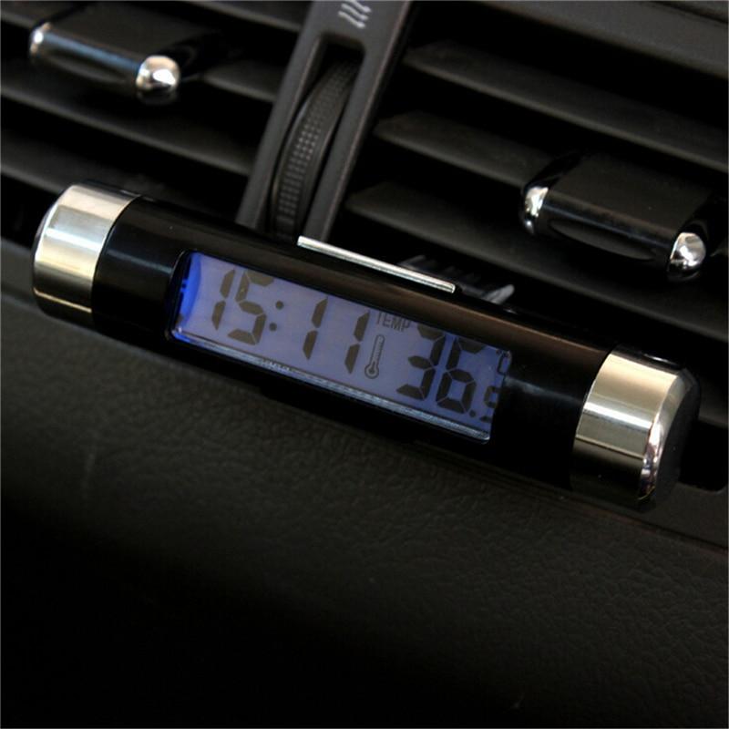 2 в 1, автомобильные часы-термометр с ЖК-дисплеем