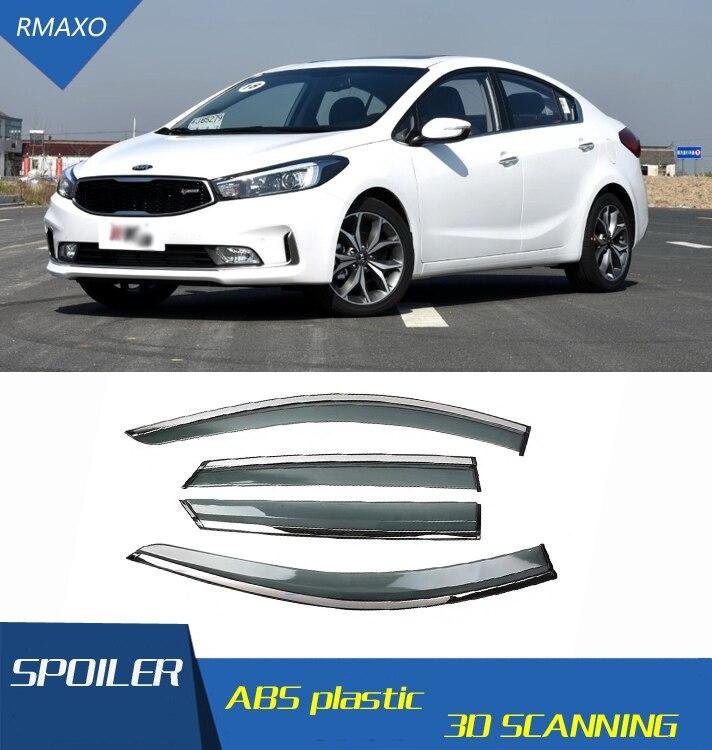 New i30 Safe Smoke Window Visor Vent 4-pc Set for 2012 2013 2014 Hyundai Elantra GT