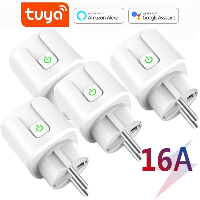 16A Tuya Wifi Smart Plug Draadloze Power Adapter Remote Voice Control Timer Power Energy Monitor Socket Voor Alexa Google Thuis 1